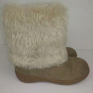 Carter's Little Girl Faux Fur Boots Size 10 0331